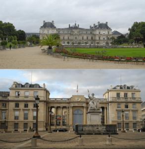 Oben: der Senat im Jardin du Luxembourg Unten: die Assemblée National